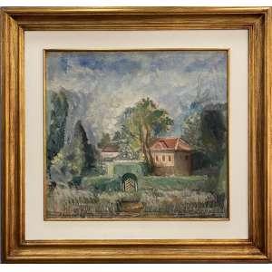 BONADEI, Aldo - Paisagem com casa - óleo sobre tela - 57 x 65 cm - a.c.i.e. 1942