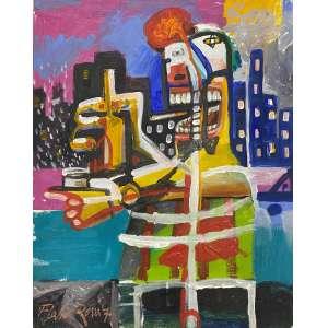 FLÁVIO ROSSI - Andarilho - acrílica sobre tela - 50 x 40 cm - a.c.i.d. 2007