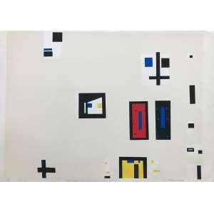 ANTONIO MANUEL - Composição geométrica - serigrafia 26/90 - 53 x 76 cm - a.c.i.d. 1983/86 - Obs: sem moldura no estado.