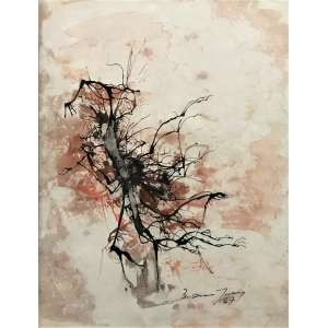 BANDEIRA, Antonio - Abstrato - guache e nanquim - 24 x 18 cm - a.c.i.d. 1967 - ex: coleção da família França Loureiro