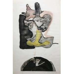 ANNA BELLA GAIGER - Tronco - gravura em metal 7/25 - 70 x 45 cm - a.c.i.d. 1967 - Obs: no estado sem moldura.