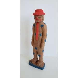 VEIO - Palhaço - escultura em madeira - 22 cm de altura - assinada