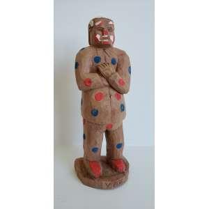 VEIO - Palhaço - escultura em madeira - 23 cm de altura - assinada