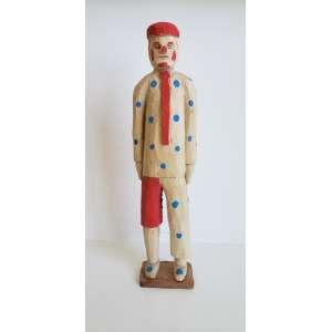 VEIO, Cicero Alves dos Santos - Palhaço - escultura em madeira - 28 cm de altura - assinada