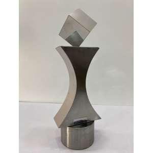 TOYOTA, Yutaka - Sem titulo - escultura em aço polido 43/100 - 39 cm de altura - assinada