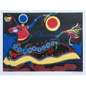 ALDEMIR MARTINS - Bumba meu boi, gravura 59/100, 66,5 x 56, assinada no canto inferior direito.