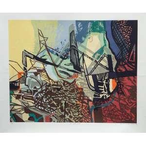 """ROBERTO BURLE MARX - """"Aos quatro ventos"""", gravura, tiragem 57/100, 70 x 80, assinado no canto inferior direito, 1994 ."""