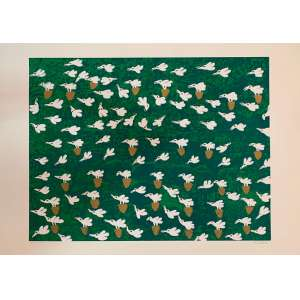 """ANTÔNIO POTEIRO - """"Pássaros"""", Serigrafia 94/100, 60 x 80, assinado no canto inferior direito. A obra apresenta cachet da Associação Cultural Antônio Poteiro."""