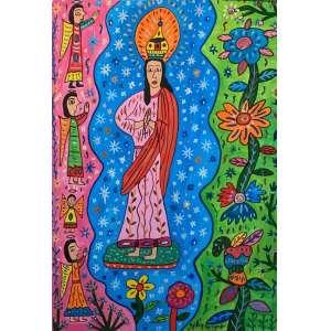 ANTÔNIO EUSTÁQUIO - Nossa Sra. Conceição, 70 x 50, óleo sobre tela, assinado no canto inferior direito.