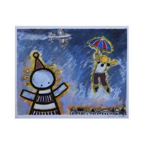 RICARDO FERRARI - Sonhos, óleo sobre cartão, 43 x 36, assinado e datado no canto inferior esquerdo, 2014.