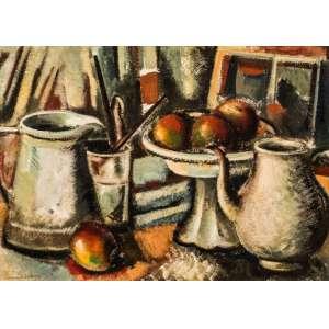FERNANDO VELLOSO - Natureza morta, óleo sobre tela, medindo 70 x 50 cm, assinado e datado 1980 no cano inferior esquerdo.