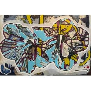 DANIEL TAVARES - HIBISCOS, óleo sobre tela, 120 x 80, assinado, 2009.