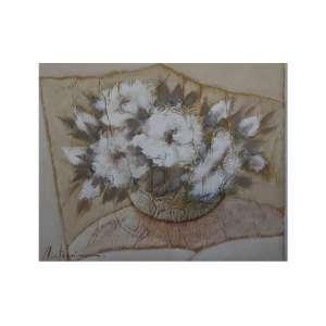 CHICO FERREIRA - Vaso de flores, 98 x 78, assinado no canto inferior esquerdo.