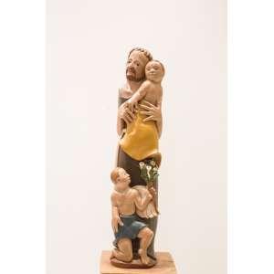 HUMBERTO ARAÚJO - Santo Antoônio, escultura em madeira, medindo 72 cm