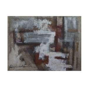 VIRGÍNIA DE PAULA - Abstrato, óleo sobre tela, 120 x 90 cm, assinado no canto inferior esquerdo.