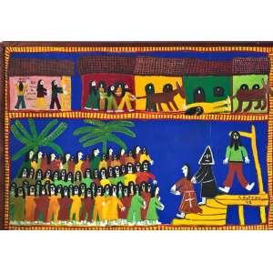 """ANTÔNIO POTEIRO - """"Tiradentes"""" 78 x 100. óleo sobre tela, assinado no canto inferior direito. A obra participou de leilão na Bolsa de Arte, Rio de Janeiro. Apresenta certificado de autenticidade do instituto do artista."""