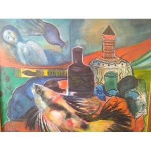 CHANINA - Chanina, natureza morta, óleo sobre tela, 79 x 63, assinado e datado no canto inferior esquerdo, 1962.