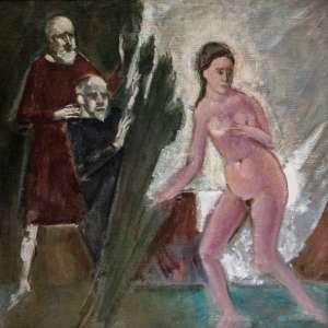 EMERIC MARCIER - Sem título, óleo sobre tela, 71 x 71, assinado.