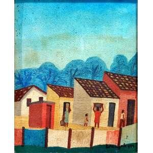 LORENZATO - Varal, óleo sobre cartão, 40 x 33, assinado no canto inferior direito.