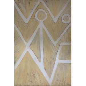 AMILCAR DE CASTRO - Sem título, óleo sobre madeira, 65 x 95, assinado no verso.