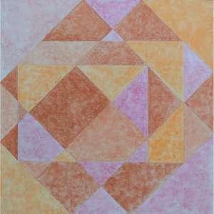 HERMELINDO FIAMINGHI - Composição, óleo sobre tela, 80 x 80.