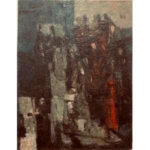 """INIMÁ DE PAULA - """"Sem título"""", óleo sobre tela colado em cartão, 66 x 50, assinado no canto inferior direito."""