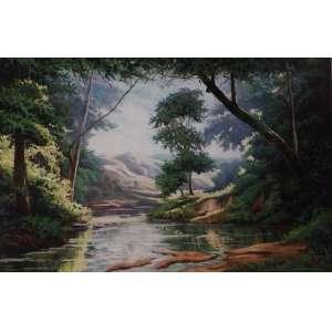 JONAS ODAB - Paisagem, óleo sobre tela, 80 x 120, assinado.
