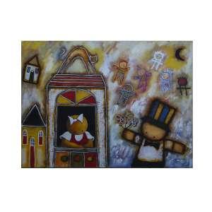 """RICARDO FERRARI - """"A memória mais bonita da rua"""", óleo sobre tela, 60 x 80, assinado no canto inferior esquerdo, 2011. A obra participou da exposição individual do artista no Museu Inimá de Paula em Belo Horizonte-MG e consta no catálogo da exposição."""
