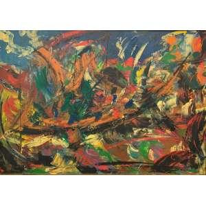 VEGA NERY - Composição abstrata, óleo sobre tela, 70 x 100, assinado no CIE.