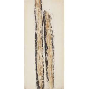 FRANS KRAJCBERG - Relevo sobre papel moldado, 34x74.