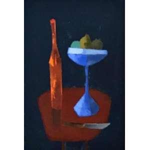 "MÁRIO SILÉSIO - ""Garrafas"", óleo sobre tela, 40 x 30, 1966."
