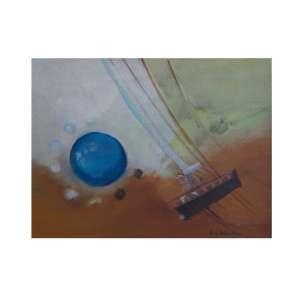 MARIA HELENA ANDRÉS - Composição, óleo sobre tela, 39 x 30, assinado no canto inferior direito.