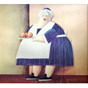 """GUSTAVO ROSA - """"Copeira"""", giclê, 80 x 90, assinado no canto inferior."""