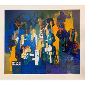 ROBERTO BURLE MARX - Serigrafia-PI, 60 x 70, assinado no canto inferior direito. A obra apresenta cachet do Projeto Burle Marx.