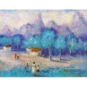MANOEL SANTIAGO - Vista de Teresópolis, óleo sobre tela, 33 x 27, assinado no canto inferior direito, 1968.