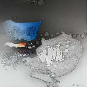 FUKUDA - Composição, óleo sobre tela, 50 x 50cm, assinado no canto inferior direito