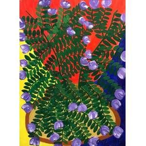CÉLIO DE FARIA - Vaso de flores, óleo sobre eucatéx, 55 x 38cm, assinado no canto inferior esquerdo