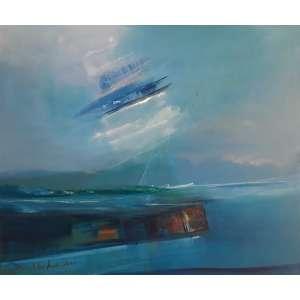 MARIA HELENA ANDRÉS - Abstração, óleo sobre tela, 50 x 60, assinado no canto inferior esquerdo, datado de 2003