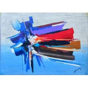 MARCO ANTÔNIO MOREIRA - Abstração, óleo sobre tela, 54 x 74cm, assinado no canto inferior direito, datado 1992