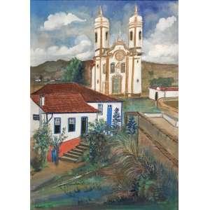 HOLMES NEVES - Ouro Preto, óleo sobre tela, 70 x 50cm, assinado no canto inferior direito e datado de 1977