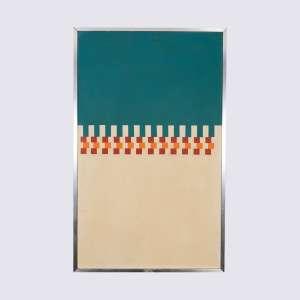 MAURICIO N LIMA - Geométrico. Acrílico sobre tela s/ placa. Medidas: 78 x 48 cm. Data: 1967. Assinado e datado 1967 no verso. Apresenta parte da cachê/etiqueta da Galeria Saramenha. Ex coleção Mônica do Monte França.