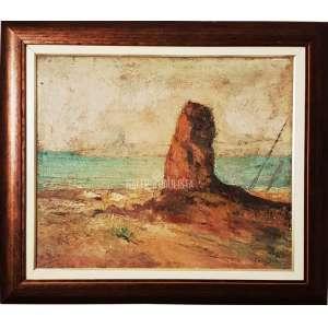 GARCIA BENTO - Paisagem. O.S.T. óleo sobre tela. Medidas: 48x58 cm (obra). Data: 1921. Assinado e datado no canto inferior direito. Linda e rara obra do artista. Estado de conservação: Bom.