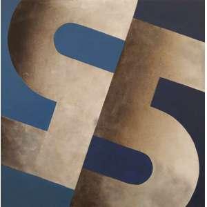 PAIVA BRASIL ( 1930), SÉRIE 5, 1974. Acrilica s/ eucatex - Ass. verso - 40 x 40 cm