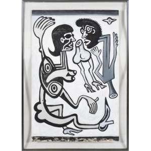 VICTOR ARRUDA (1947) SEM TÍTULO, 1987 - Acrílico s/ cartão - Ass. inf. direito - 76 x 50 cm