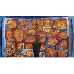CARLOS VERGARA (1941) Altamor, 2008 - Monotopia, pintura e carvão s/ lona crua - Ass. no verso - Importante obra do artista, reproduzido no livro organizado por Paulo Sergio Duaerte na página 190, e no catálago da mostra em 2010 na Galeria Bergamin na páginas 10 e 11. - 195 x 350 cm