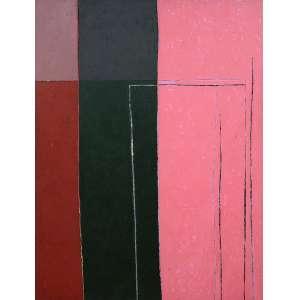 GONÇALO IVO (1958) PINTURA ROSA, 1987. Óleo s/ tela - 200 x 150 cm
