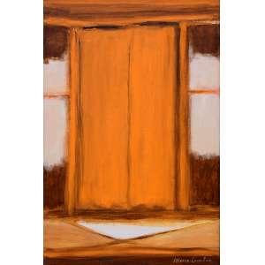 MARIA LEONTINA (1917-1984) VARAL, 1972 - Acrílica s/ telaAss. inf. direito e verso - Reproduzido no catálogo da ProArte Galeria em agosto de 2014. - 60 x 40 cm