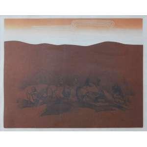 PALOMBINI , LIGIA (1929), HOMENAGEM A PORTINARI, 1978. LitografiaAss. inf. direitoEdição 8 de 40 - 46 x 62 cm