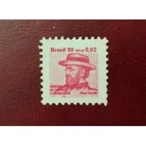 Selo emitido em 24/11/1989 – Padre Damião, com valor facial de NCz$ 0,02 centavos (lilás) RHM: H 0026/0029. Novos.