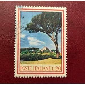 Selo Itália 1966 pinho - 20 Liras